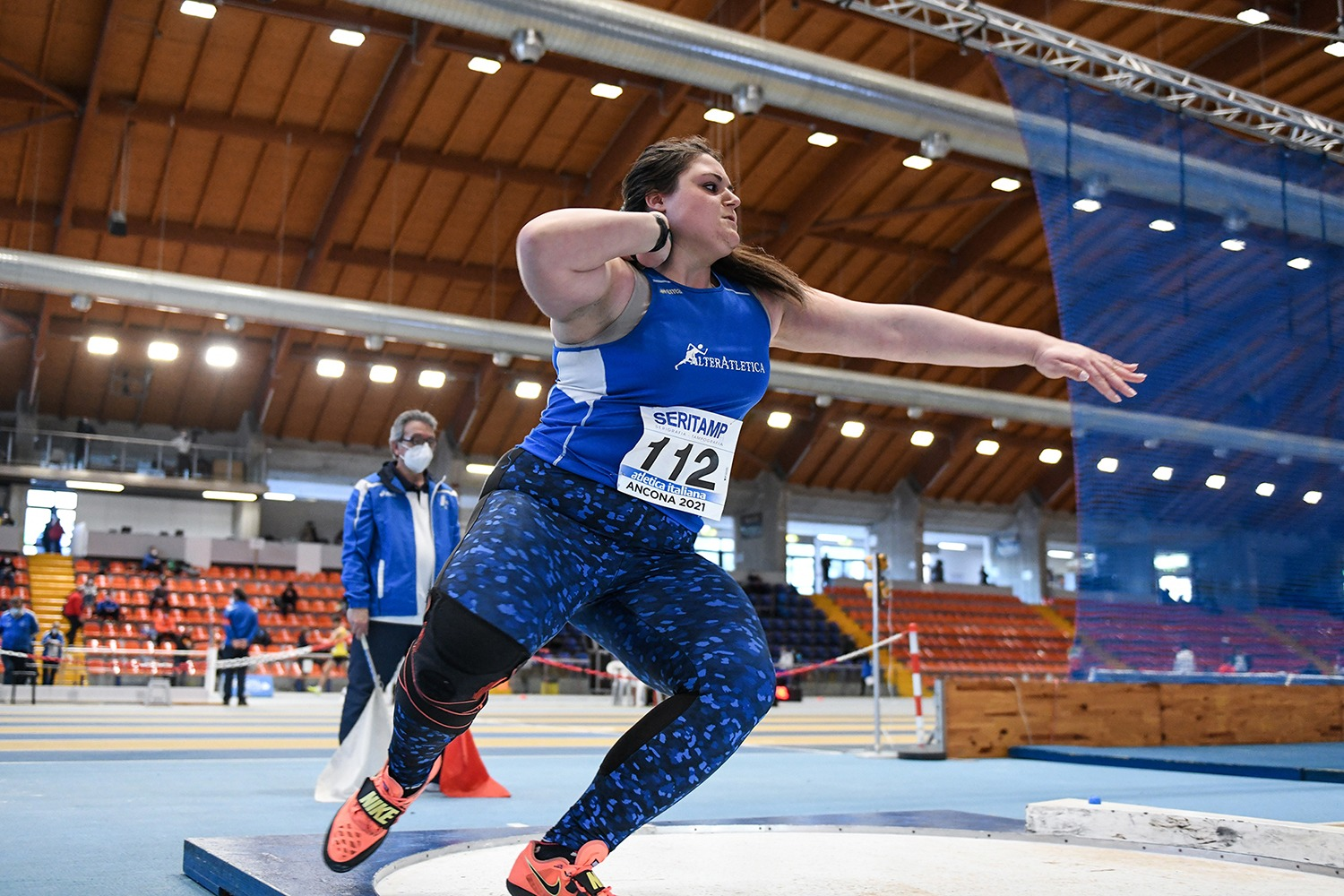 Anna Musci Campionessa Italiana Allieve Getto del Peso Indoor